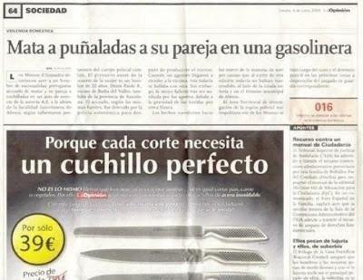 noticia recorte mata a puñaladas a su pareja en una gasolinera anuncio cuchillos