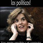 Por favor, no grites a los políticos