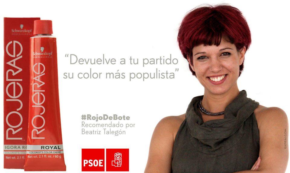 rojo de bote recomendado por beatriz talegon devuelve a tu partido su color mas populista