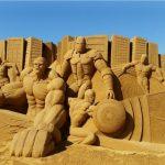 Figuras de arena – Superhéroes