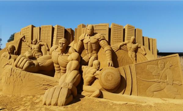 figura de arena - superheroes - visto en melbourne
