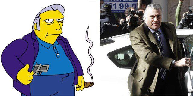 Parecidos razonables - Fat Tony (Los Simpson) y Luis Bárcenas