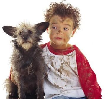 parecidos razonables niño y perro