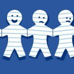Portada Facebook: Muñecos de papel quemándose