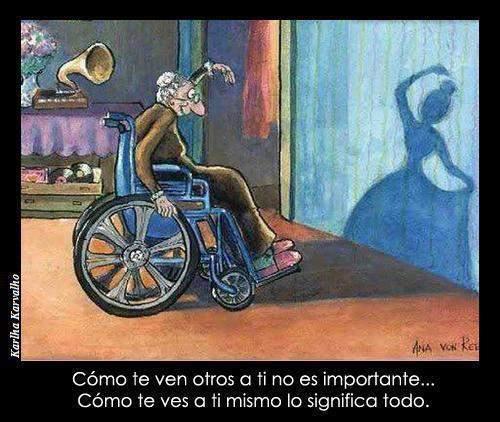 abuela paralitica sombra bailando - como te ven otros a ti no es importante, como te ves a ti mismo lo significa todo