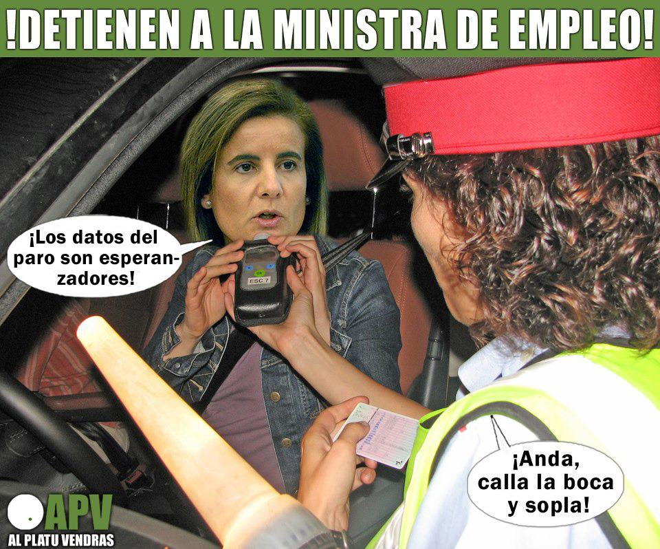 Detienen a la ministra de empleo por decir burradas
