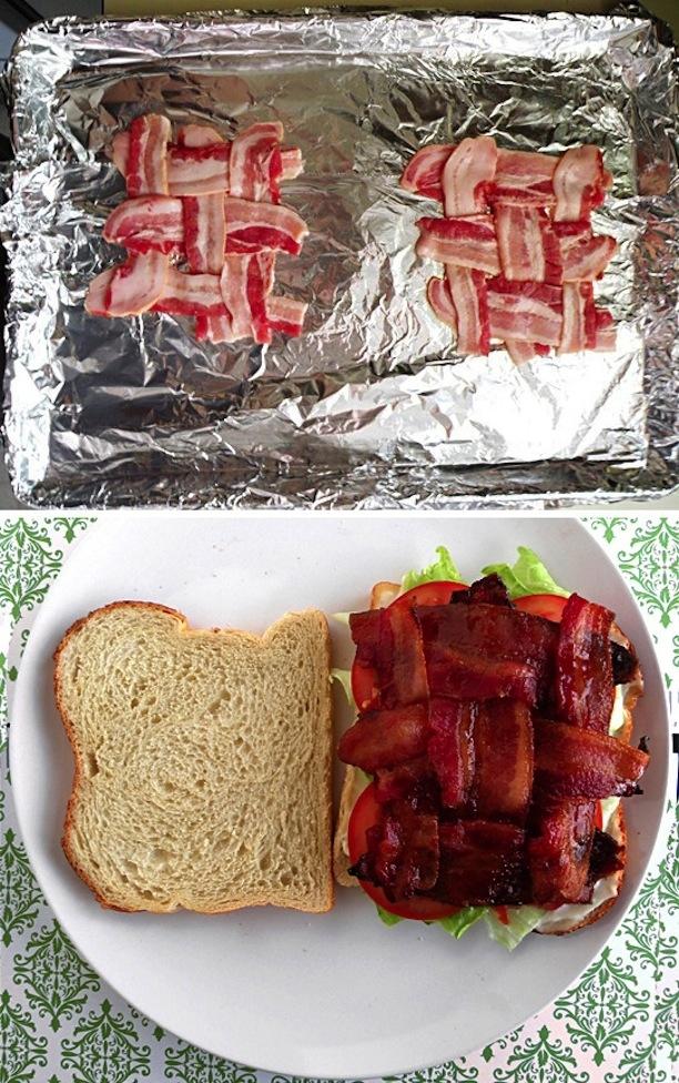 Así se cocina el bacon para sandwich