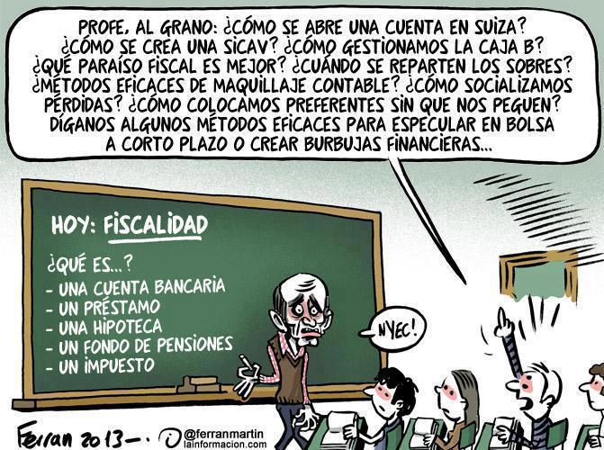 Clase de fiscalidad en España
