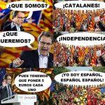 ¿Qué somos? ¡Catalanes! ¿Y qué queremos…? ¡La independencia!
