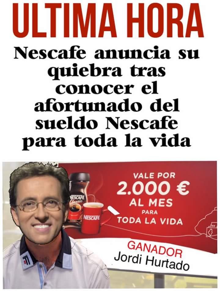 Nescafé anuncia su quiebra tras conocer el ganador del sueldo Nescafé para toda la vida