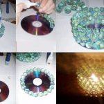Lámpara con cd y canicas