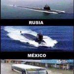 Submarinos: Estados Unidos vs Rusia vs México