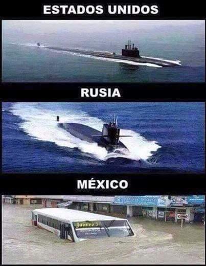 Submarinos - estados unidos, rusia y mexico