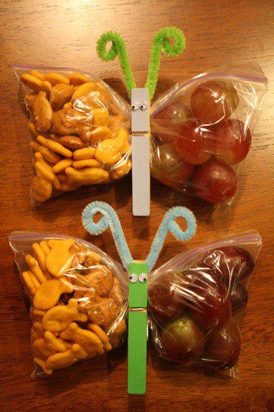 bolsa de chuches decorada con pinza