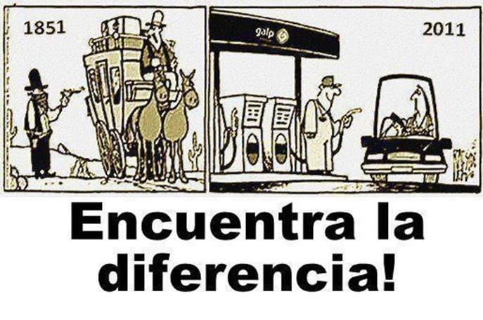 Gasolineras en la actualidad y salvaje oeste: encuentra la diferencia