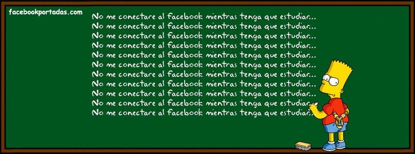portada facebook no me conectare al facebook mientras tenga que estudiar simpson
