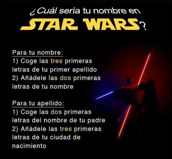 cual seria tu nombre en star wars