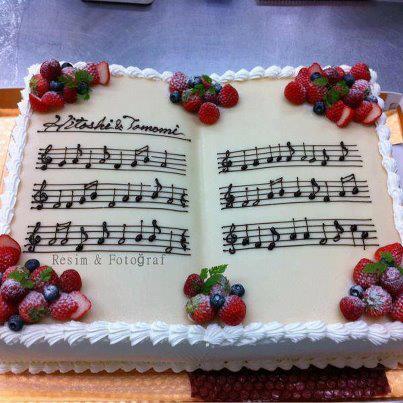 arte con comida tarta partitura