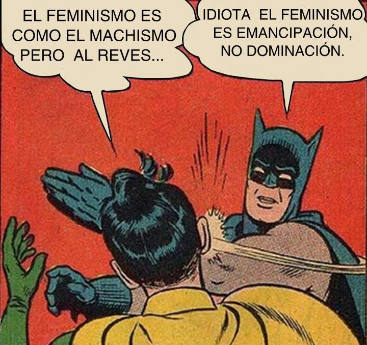 batman y robin meme el feminismo es como el machismo pero al reves