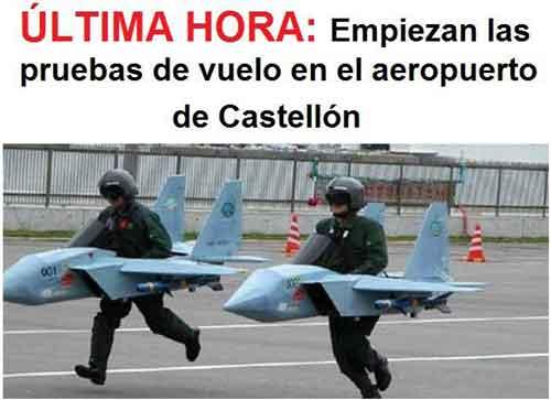 ultima hora empiezan las pruebas de vuelo en el aeropuerto de castellon