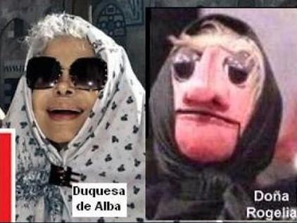 Parecidos razonables: Duquesa de Alba y Doña Rogelia