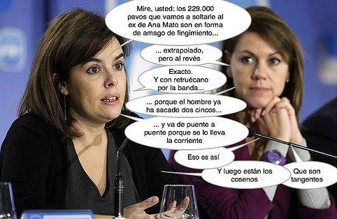 Soraya Sáenz de Santamaría y Dolores de Cospedal explican el finiquito del ex de Ana Mato