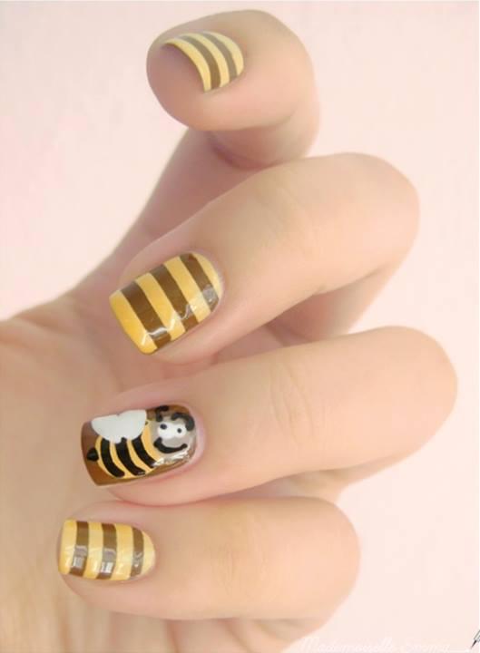 dibujo para uñas - abeja