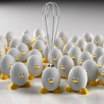 Huevo en apuros
