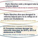 """Pedro Sánchez y sus """"dudas"""" con la reforma laboral del PP"""