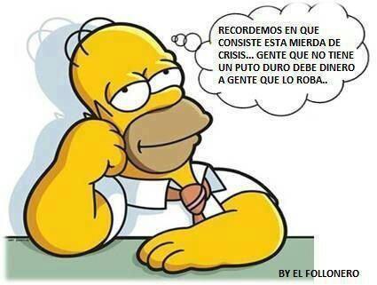 Reflexiones de Homer Simpson sobre la crisis
