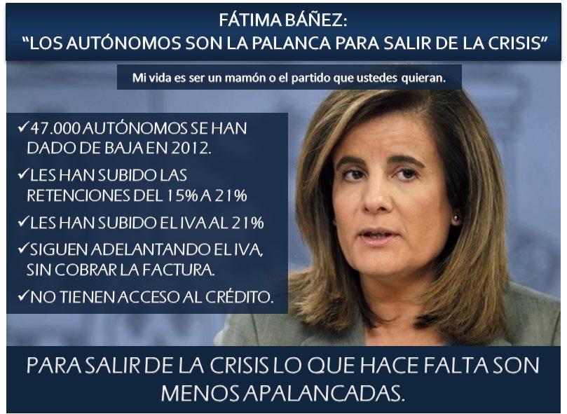 Fátima Báñez, sobre los autónomos