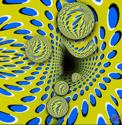 ilusion optica bolas y circulos que se mueven