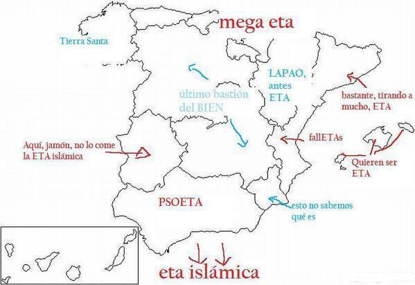 El mapa facha de España