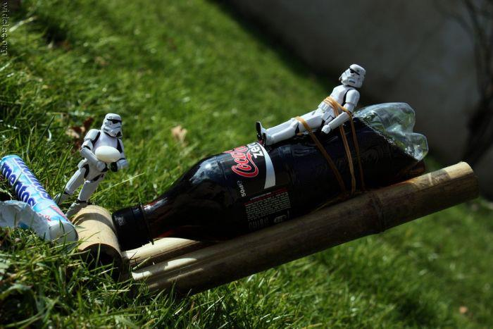 star wars soldados imperiales, cocacola y mentos