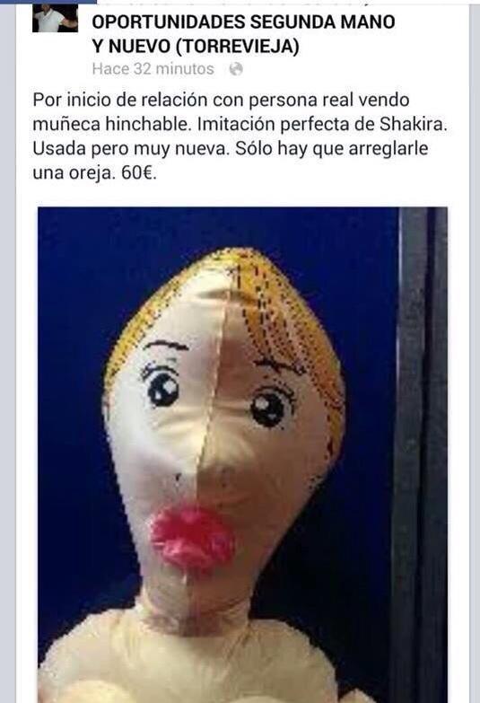 venta de muñeca hinchable por inicio de relacion