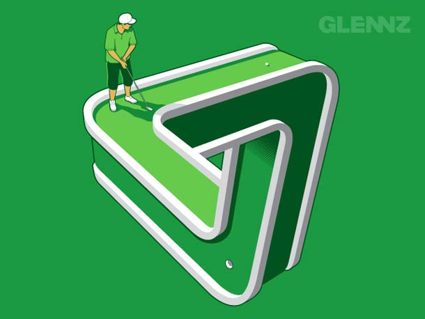 glennz - circuito de golf imposible