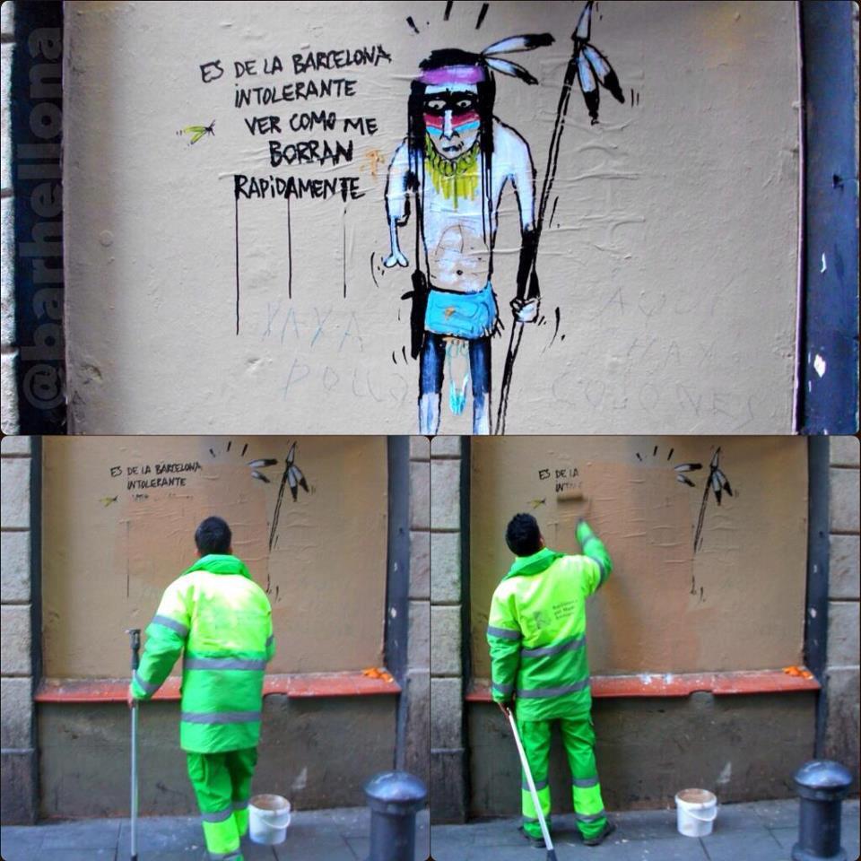 graffiti es de la barcelona intolerante ver como me borran rapidamente