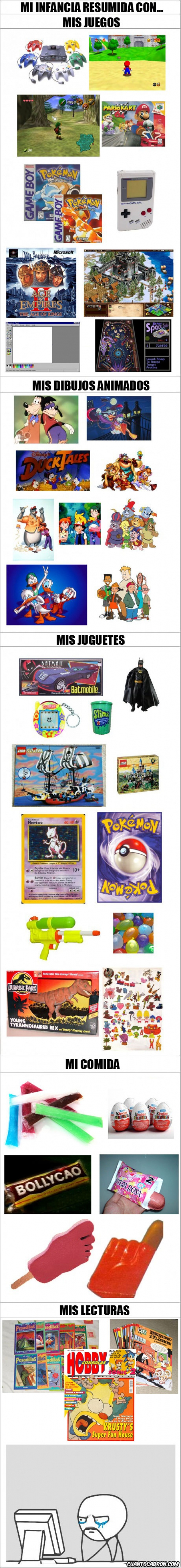 Mi infancia resumida