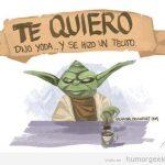 """""""Te quiero"""", dijo Yoda… y se hizo un tecito"""