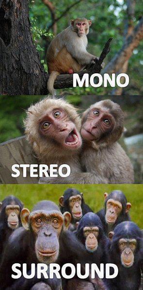 Mono, Stereo y Surround