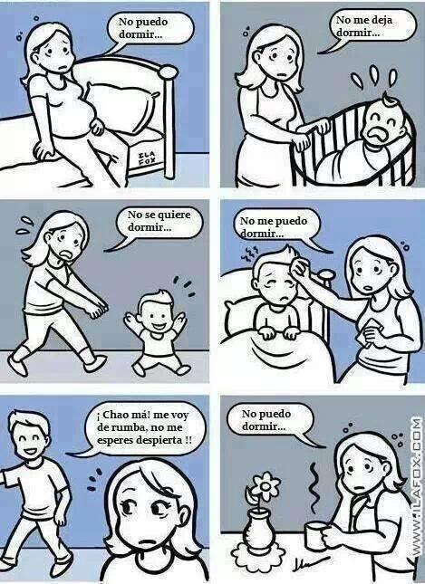 Tener hijos y dormir, un dilema
