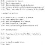 21 de diciembre de 2012 – Programa del día