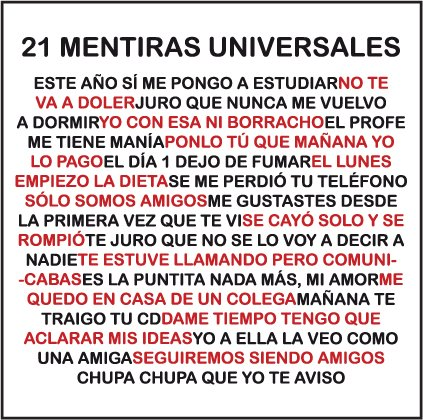 21 mentiras universales