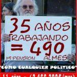 35 años trabajando 490 euros al mes