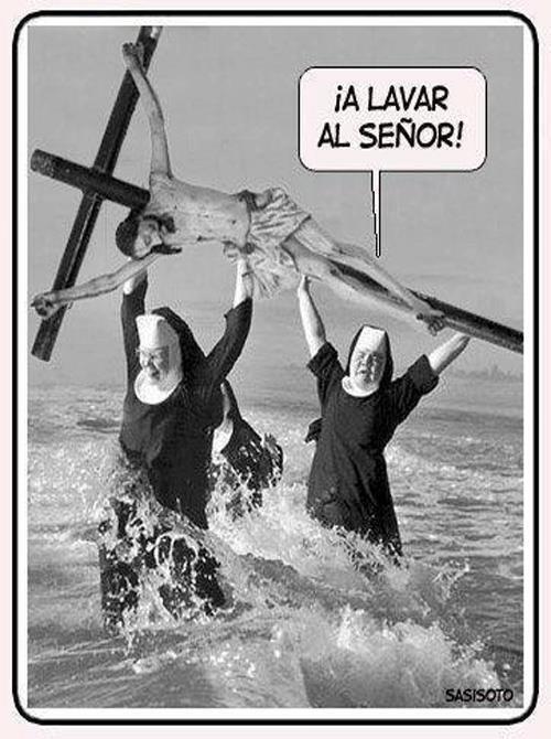 ¡A lavar al Señor!