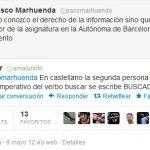 Amaiur corrige a Francisco Marhuenda (director del diario La Razón) una falta de ortografía