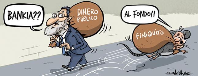 Bankia - Rajoy se cruza con Rodrigo Rato