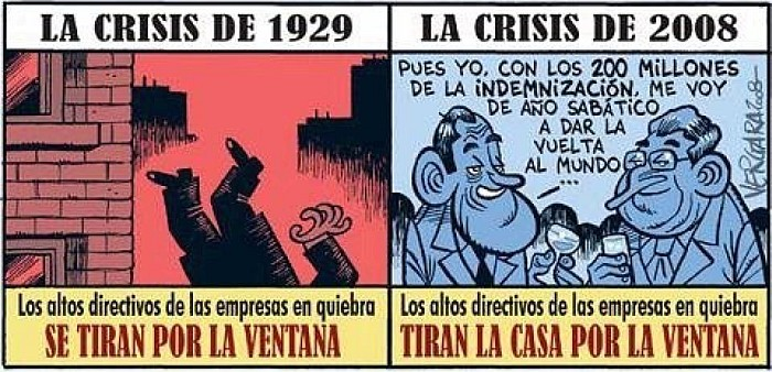 Diferencias entre la crisis de 1929 y la actual