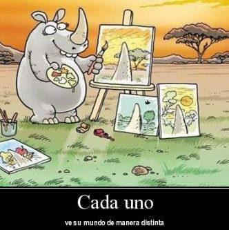 El mundo visto por un rinoceronte