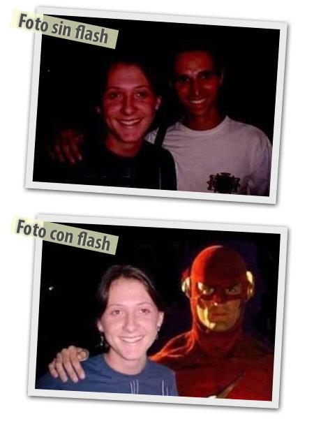 Diferencia entre foto con flash y foto sin flash